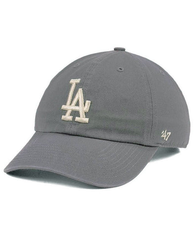 Los Angeles Dodgers Strapback '47 Brand Clean Up Adjustable Cap Hay Dark Grey