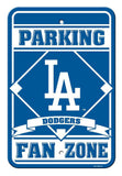 "Los Angeles Dodgers Bar Home Decor Plastic 12""x18"" Team Fan Zone Parking Sign"