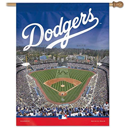 "Los Angeles Dodgers 2 Sided Stadium Vertical Flag 27"" x 37"""