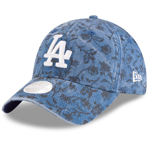 Los Angeles Dodgers Strapback New Era 9Twenty Adjustable Floral Peek Cap Hat
