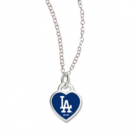 Los Angeles Dodgers 3D Heart Necklace