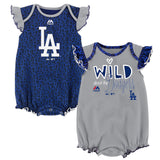 Los Angeles Dodgers Infant Girl Team Sparkle 2-Pack Bodysuit Set