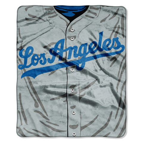 "Los Angeles Dodgers 50"" x 60"" Plush Jersey Blanket"