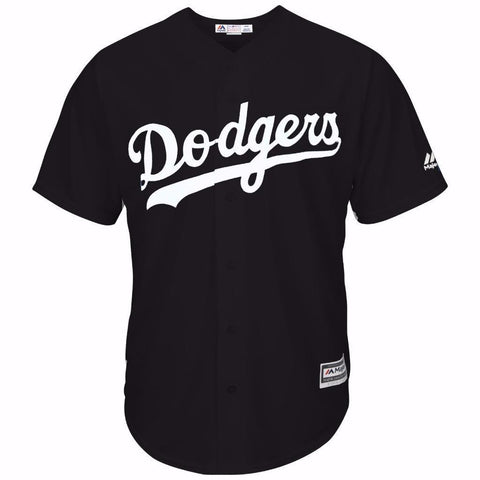Los Angeles Dodgers Mens Jersey Majestic Custom Alternate Jersey Black White