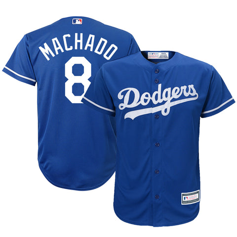 Los Angeles Dodgers Youth Jersey Majestic #8 Machado Cool Base Blue