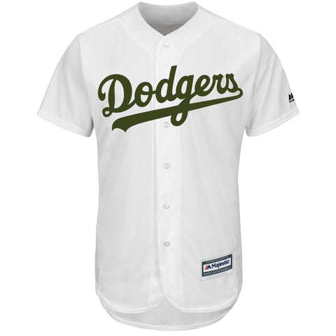 Los Angeles Dodgers Mens Jersey Majestic 2018 Memorial Day Cool Base White