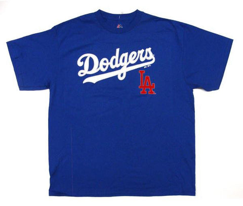 Los Angeles Dodgers Kids (4-7) Stitch Wordmark Jersey T-Shirt Blue