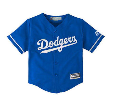 3174483f Los Angeles Dodgers Toddler 2T-4T Majestic Replica Cool Base Blue Jersey