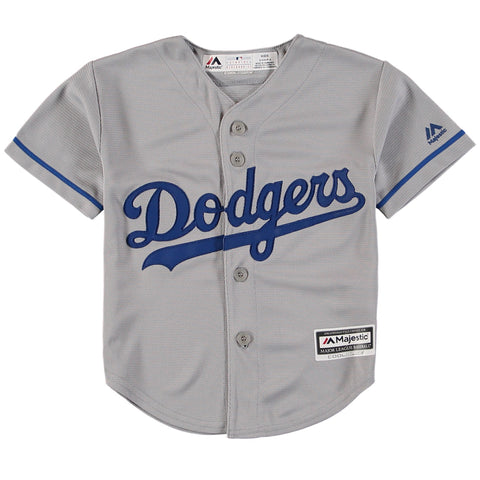 Los Angeles Dodgers Kids (4-7) Jersey Majestic Replica Cool Base Grey Jersey