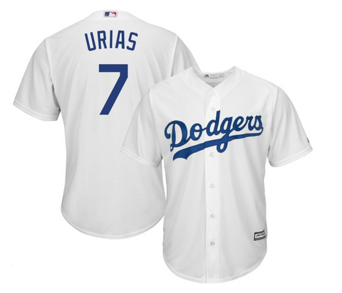 Los Angeles Dodgers Jersey Julio Urias #7 Cool Base Home White Jersey