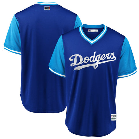 Los Angeles Dodgers Mens Jersey Majestic 2018 Players Weekend Royal/Light Blue