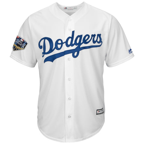 Los Angeles Dodgers Mens Jersey Majestic 2018 World Series Jersey White