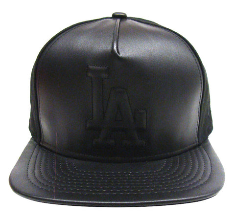 Los Angeles Dodgers Snapback Style Strapback New Era ORIGINAL FIT Leather Crush Cap Hat