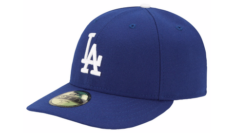 Los Angeles Dodgers Fitted 59Fifty Low Profile Authentic Cap Hat Blue