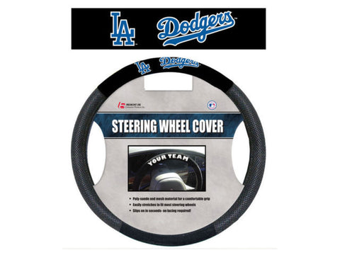 Los Angeles Dodgers Black Poly-suede & Mesh Steering Wheel Cover