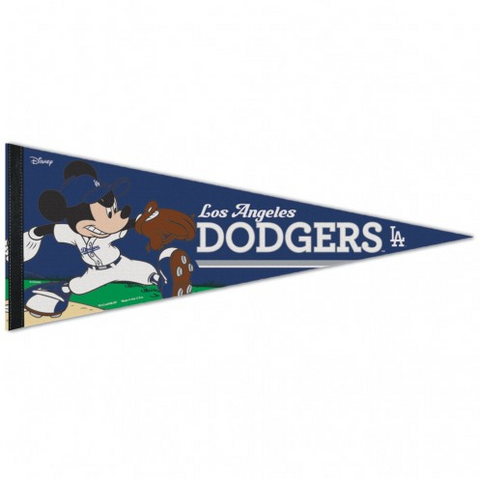 "Los Angeles Dodgers Mickey Mouse 12"" X 30"" Bar Home Decor Classic Pennant"
