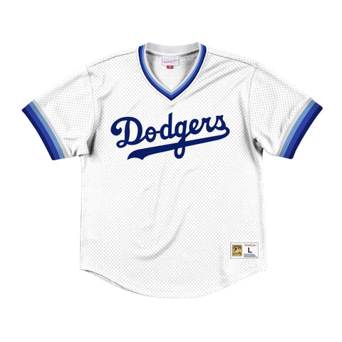 Los Angeles Dodgers Mens Jersey Mitchell & Ness Mesh Wordmark V Neck