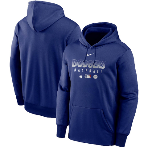 Los Angeles Dodgers Mens Nike AC Therma Dri-Fit Pullover Hoodie Blue