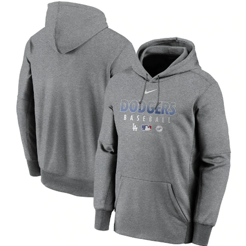 Los Angeles Dodgers Mens Nike AC Therma Dri-Fit Pullover Hoodie Charcoal