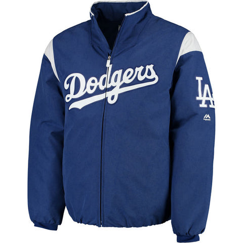 Los Angeles Dodgers Mens Jacket Majestic On-Field Therma Base Thermal Full-Zip
