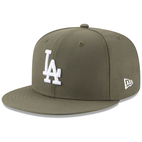 Los Angeles Dodgers Snapback New Era 9Fifty Olive Green Cap Hat