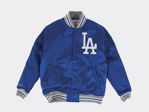 Los Angeles Dodgers Mens Mitchell & Ness Satin Jacket