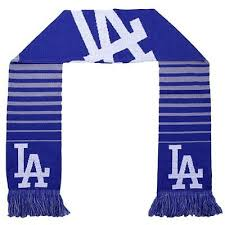Los Angeles Dodgers Striped Scarf