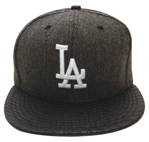 Los Angeles Dodgers Snapback Style Strapback New Era Slither Tweed Cap Hat
