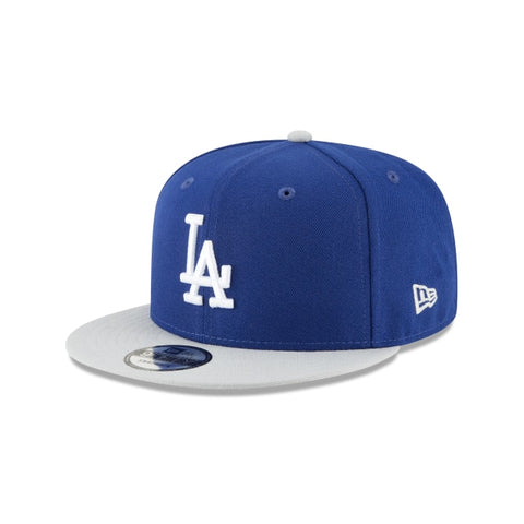 Los Angeles Dodgers Snapback New Era White Logo Cap Hat Blue Grey