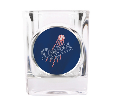 Los Angeles Dodgers 2 oz Square Shot Glass w/ Metallic Logo