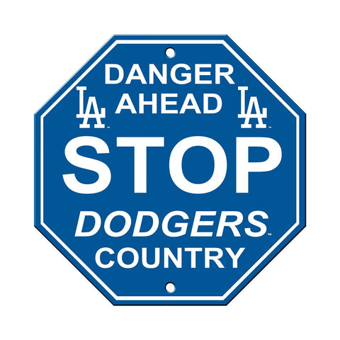 Los Angeles Dodgers Bar Home Decor Plastic Stop Sign