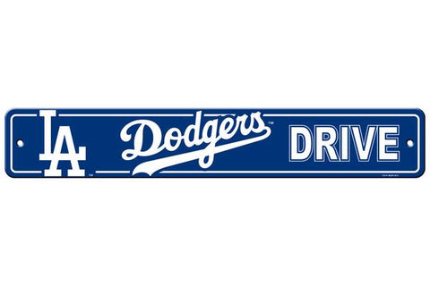Los Angeles Dodgers Bar Decor Plastic Street Sign
