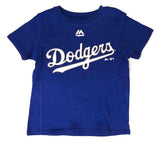 Los Angeles Dodgers Kids (4-7) Stitch Wordmark T-Shirt Blue