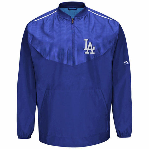Los Angeles Dodgers Mens Jacket Gamer Quarter Zip On-Field Training Pullover