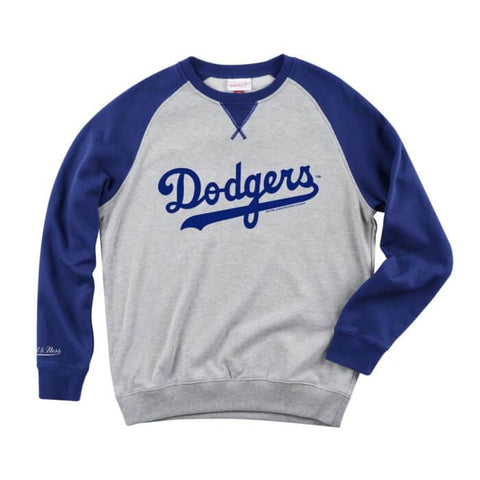 Los Angeles Dodgers Mens Mitchell & Ness Turf Pullover Sweatshirt Crew Neck