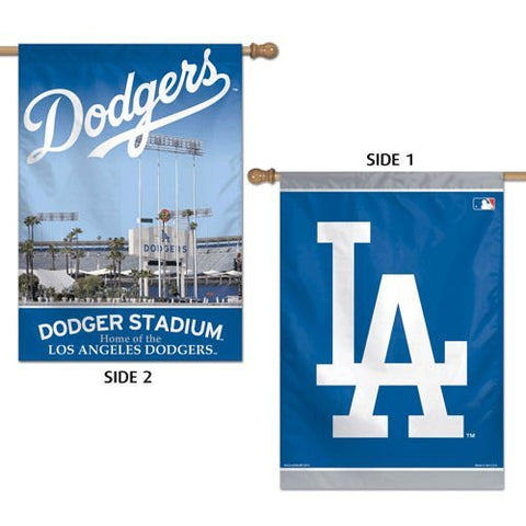 Los Angeles Dodgers 2 Sided Stadium Vertical Flag 28 x 40""