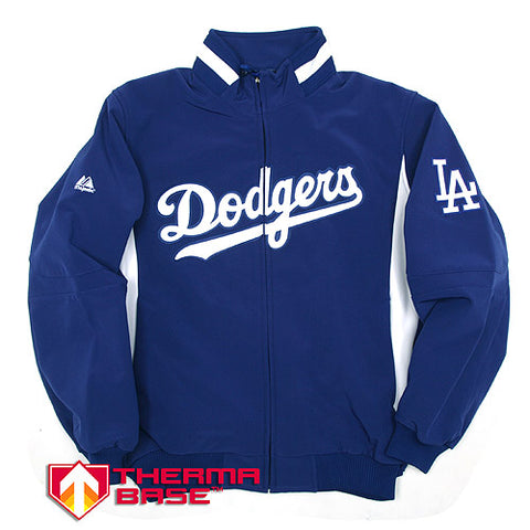 Los Angeles Dodgers Mens Jacket Majestic On-Field 2015 Therma Base Thermal Full-Zip