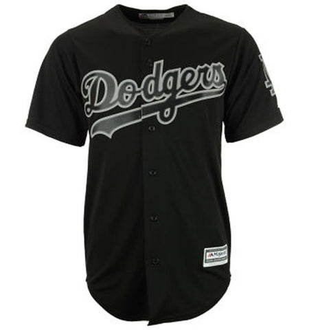 Los Angeles Dodgers Mens Jersey Majestic Cool Base Replica Jersey Black