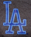 Los Angeles Dodgers Mens T-Shirt Jersey Logo Majestic Charcoal