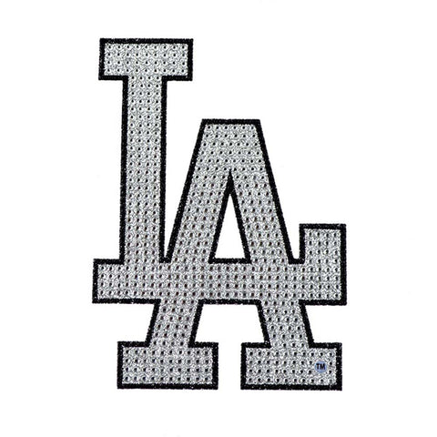 Los Angeles Dodgers Decal XL Logo Black & White Auto Bling Rhinestone