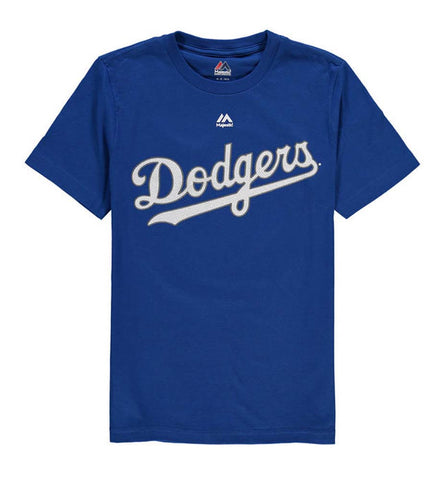 Los Angeles Dodgers Youth Majestic Wordmark Stitch T-Shirt Blue