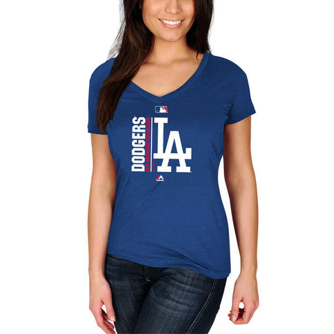 Los Angeles Dodgers Womens T-Shirt Team Icon Authentic Collection V-Neck