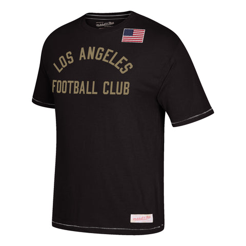 Los Angeles FC Mens Mitchell & Ness Team History T-Shirt Black