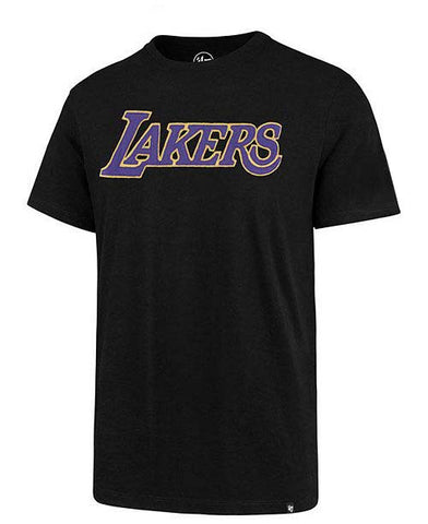Los Angeles Lakers Mens T-Shirt 47 Brand Fieldhouse Tee Black
