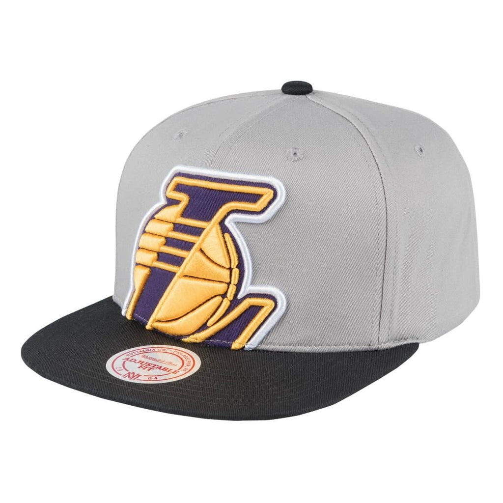 d118313fb6f Los Angeles Lakers Snapback Mitchell   Ness Cropped Split Heather Blac –  THE 4TH QUARTER