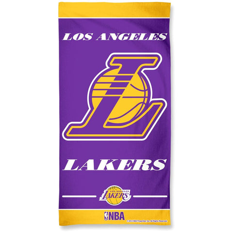 "Los Angeles Lakers WinCraft 30"" x 60"" Striped Logo Beach Towel"