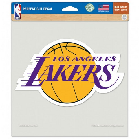 "Los Angeles Lakers Perfect Cut Decal 8"" X 8""in Logo"