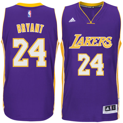 df9c1783401 Los Angeles Lakers Mens Jersey Adidas #24 Kobe Bryant Climacool Swingman  Purple