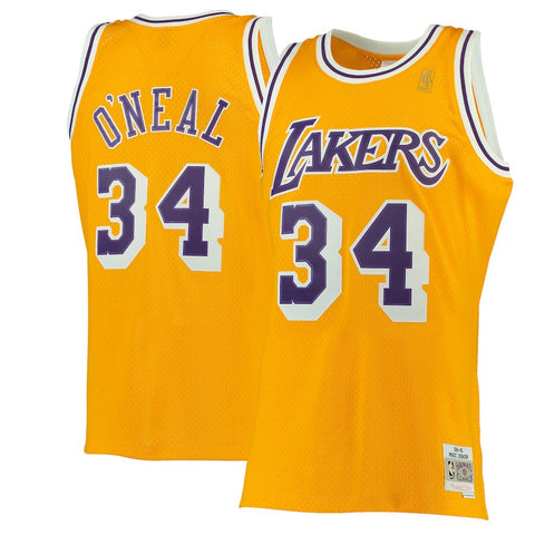 Los Angeles Lakers Mens Jersey Mitchell & Ness #34 Shaquille O'Neal Swingman