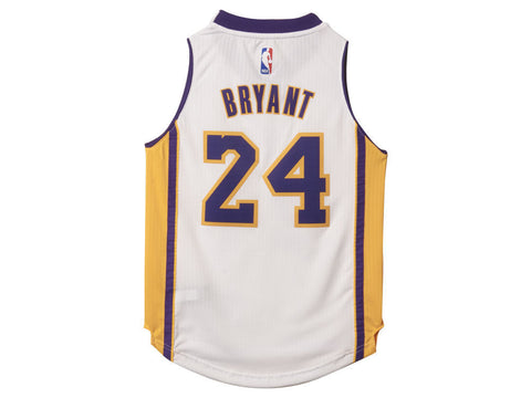 best website 232b8 aa516 Los Angeles Lakers Kids Adidas Kobe Bryant #24 Jersey White